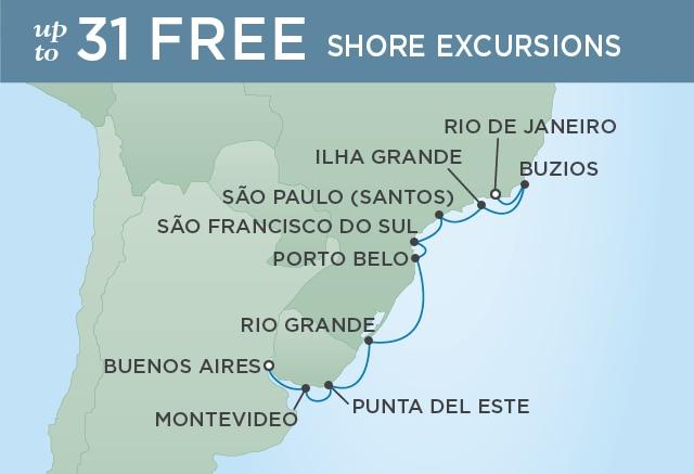7 Seas Luxury Cruises PAMPAS EXPLORATION - January 19-31 2021