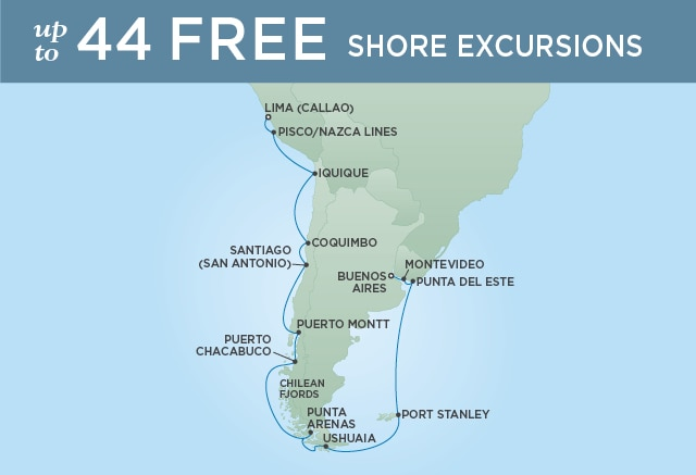 7 Seas Luxury Cruises THE BEST OF SOUTH AMERICA - February 21 March 14 2021