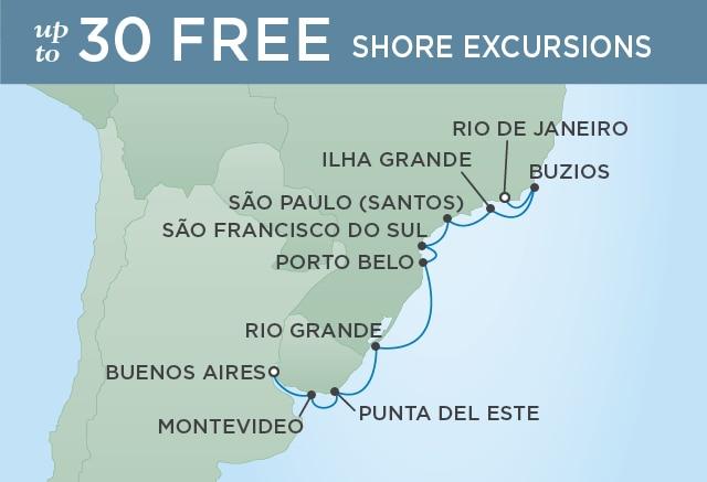 7 Seas Luxury Cruises THE BEAUTY OF BRAZIL - March 14-26 2021