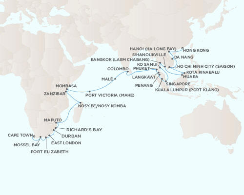 Radisson Seven Seas Voyager Cruises December 21 2014 January 18 2015 - 28 Days