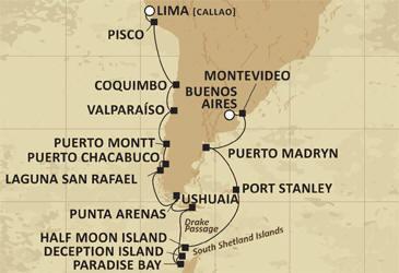 Luxury Cruise RegentCruises Map Mariner 2021