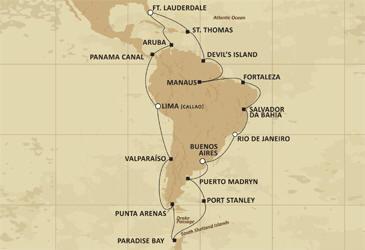 Regent Seven Seas Cruises Map Mariner 2027