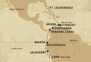 Luxury Cruise RegentCruises Map Mariner 2021
