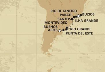Regent Luxury Cruises Map Mariner 2027
