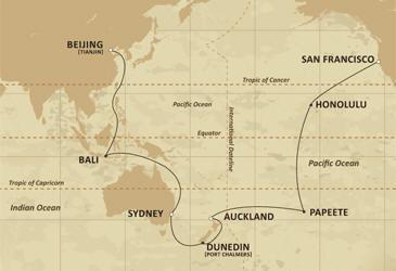 World CRUISE SHIP BIDS - Route