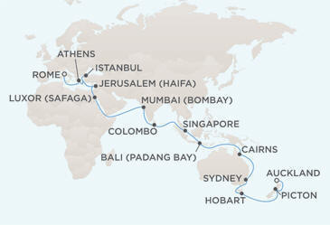 Single Balconies/Suites MAP - Regent Seven Seas Voyager World Cruises 2012