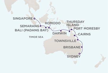 Single Balconies/Suites MAP - Regent Seven Seas Voyager World Cruises 2012