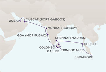 Owner Suite, Penthouse, Grand Suite, Concierge, Veranda, Inside Charters/Groups Cruise MAP - Regent Seven Seas Voyager World Cruise 2023