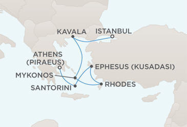 MAP - Regent  Voyager World Cruises 2012