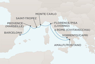 CRUISES - Balconies/Suites MAP - Regent Seven Seas Voyager World Cruises 2012