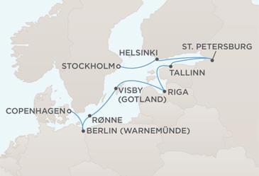 Single Balconies/Suites MAP - Regent Seven Seas Voyager World Itineraries 2022