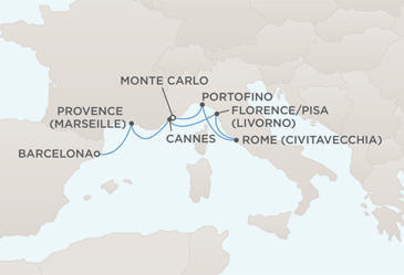 Charters, Groups, Penthouse, Balcony, Windows, Owner Suite, Veranda - Cruises MAP - Regent Seven Seas Voyager World Cruises 2022