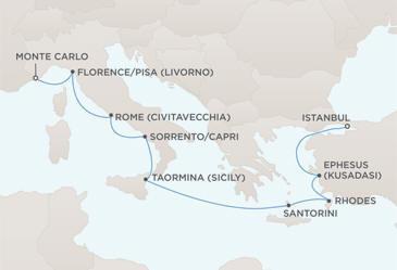 MAP - Radisson Seven Seas Voyager World Cruises 2028