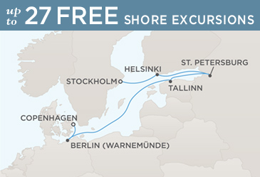 Radisson Seven Seas Cruises Voyager 2014 Map COPENHAGEN TO STOCKHOLM