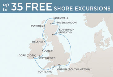 Radisson Seven Seas Cruises Voyager 2014 Map LONDON (SOUTHAMPTON) TO LONDON (SOUTHAMPTON)