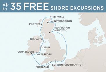 Radisson Seven Seas Cruises Voyager 2014 Map LONDON (SOUTHAMPTON) TO LONDON (SOUTHAMPTON)