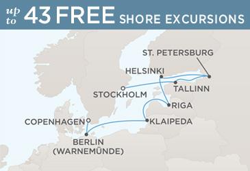 Radisson Seven Seas Cruises Voyager 2014 Map STOCKHOLM TO COPENHAGEN