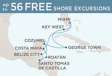 Regent Navigator Map January 4-14 2014 - 10 Days