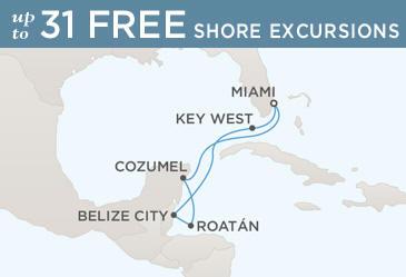 Cruises Around The World Regent Cruises Navigator 2020 Map MIAMI TO MIAMI