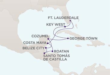 Map - Regent  Navigator 2028 Cruises