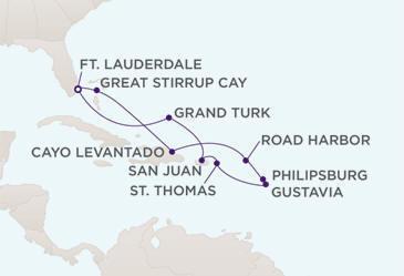 Owner Suite, Penthouse, Grand Suite, Concierge, Veranda, Inside Charters/Groups Cruise Map - Regent Seven Seas Navigator 2023 Cruise