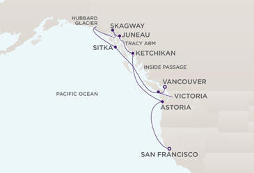 Map - Radisson Seven Seas Navigator 2028 Cruises
