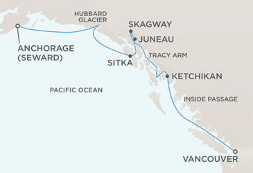 Map - Radisson Seven Seas Navigator 2028 Cruises