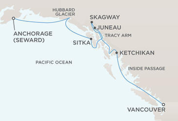 Map - Regent Seven Seas Navigator 2028 Cruises