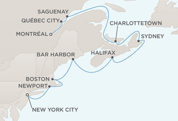 Map - Regent  Navigator 2012 Cruises