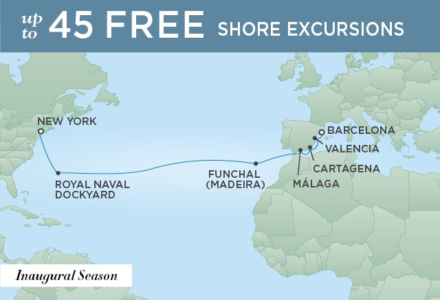 PERFECTION ACROSS THE ATLANTIC | 14 Nights | Departs Apr 16, 2020 | Seven Seas Splendor