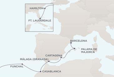 Croisière de Rêve tout-inclus Map - Regent Seven Seas Croisières Mariner 2022