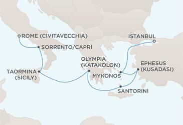 CROISIERE DE LUXE tout-inclus Map - Regent Seven Seas Croisieres Mariner 2022