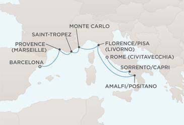 Map - Regent Seven Seas Croisieres Mariner 2022