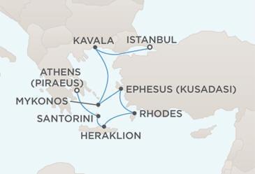 Map - Regent Seven Seas Cruises Mariner 2028