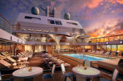 7 Seas Luxury Cruises Seabourn Cruises ENCORE Main Pool 2023