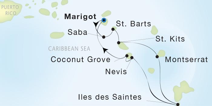 Singles Cruise - Balconies-Suites Seadream Yacht Club, Seadream 1 February 20-27 2019 Marigot, St. Martin to Marigot, St. Martin