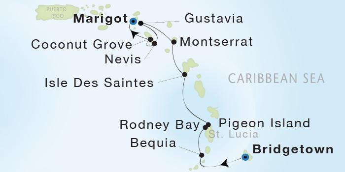 Singles Cruise - Balconies-Suites Seadream Yacht Club, Seadream 1 January 30 February 6 2019 Marigot, St. Martin to Marigot, St. Martin