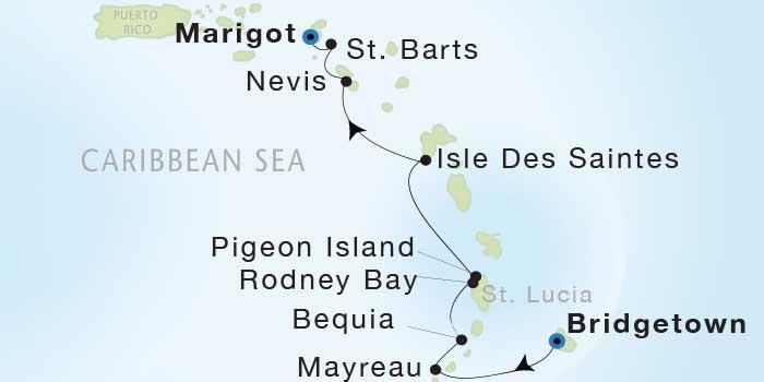 Singles Cruise - Balconies-Suites Seadream Yacht Club, Seadream 1 January 9-16 2019 Marigot, St. Martin to Marigot, St. Martin