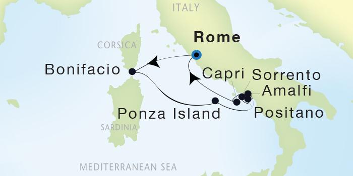 LUXURY CRUISE - Balconies-Suites Seadream Yacht Club, Seadream 1 July 30 August 6 2019 Civitavecchia (Rome), Italy to Civitavecchia (Rome), Italy