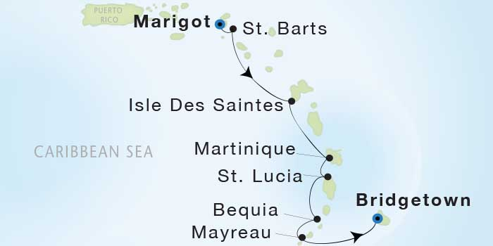 LUXURY WORLD CRUISES - Penthouse, Veranda, Balconies, Windows and Suites Seadream Yacht Club, Seadream 1 March 19-26 2019 Marigot, St. Martin to Bridgetown, Barbados