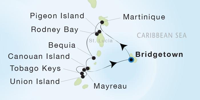 LUXURY CRUISE - Balconies-Suites Seadream Yacht Club, Seadream 1 March 26 April 2 2019 Bridgetown, Barbados to Bridgetown, Barbados