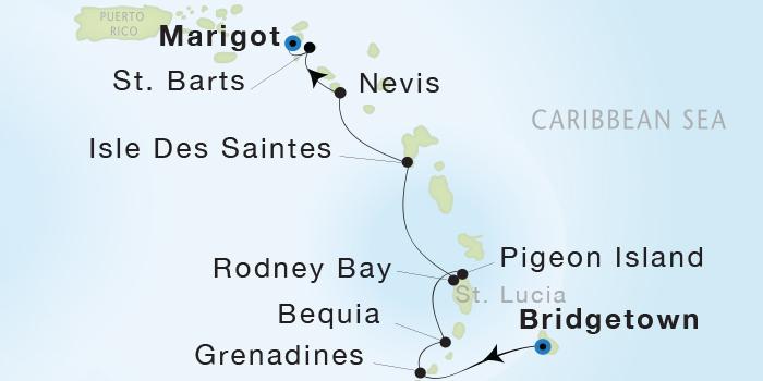 LUXURY WORLD CRUISES - Penthouse, Veranda, Balconies, Windows and Suites Seadream Yacht Club, Seadream 1 March 5-12 2019 Bridgetown, Barbados to Marigot, St. Martin