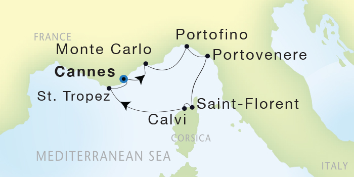 World Cruise BIDS - Seadream Yacht Club, Seadream 1 October 8-15 2023 Cannes, France to Cannes, France