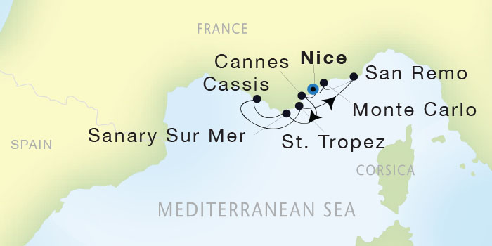 Singles Cruise - Balconies-Suites Seadream Yacht Club, Seadream 1 September 17-24 2019 Nice, France to Nice, France