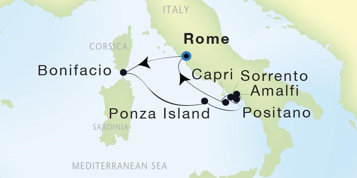 World Cruise BIDS - Seadream Yacht Club, Seadream 1 September 3-10 2023 Civitavecchia (Rome), Italy to Civitavecchia (Rome), Italy
