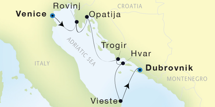 Single-Solo Balconies-Suites Seadream Yacht Club, Seadream 2 August 20-27 2023 Venice, Italy to Dubrovnik, Croatia