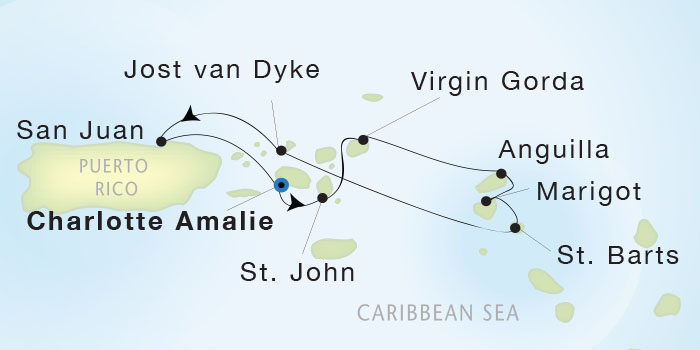 SINGLE Cruise - Balconies-Suites Seadream Yacht Club, Seadream 2 february 13-20 2019 St. Thomas to San Juan, Puerto Rico