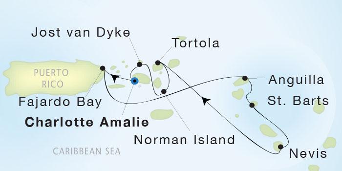 Single-Solo Balconies-Suites Seadream Yacht Club, Seadream 2 February 27 March 5 2023 San Juan, Puerto Rico to St. Thomas
