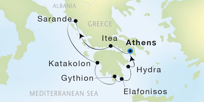 SINGLE Cruise - Balconies-Suites Seadream Yacht Club, Seadream 2 June 18-25 2019 Athens (Piraeus), Greece to Athens (Piraeus), Greece