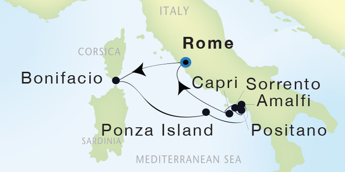 Single-Solo Balconies-Suites Seadream Yacht Club, Seadream 2 June 4-11 2023 Civitavecchia (Rome), Italy to Civitavecchia (Rome), Italy